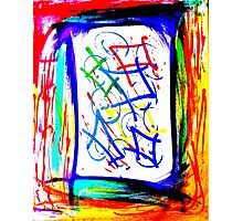 Magic Scroll Unique Abstract Art Photographic Print
