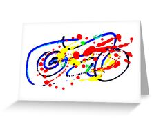 Motorbike- Unique Abstract Painting Greeting Card