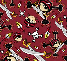 Cute Bandana Pirate Pattern by MurphyCreative
