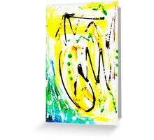 Untitled Abstract Painting Greeting Card