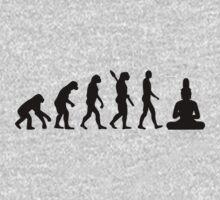 Buddha Evolution  Kids Tee