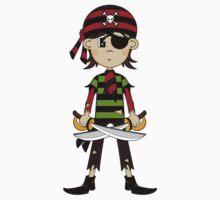 Bandana Pirate Pattern Baby Tee