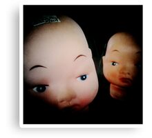 Dolls in Conspiring Canvas Print