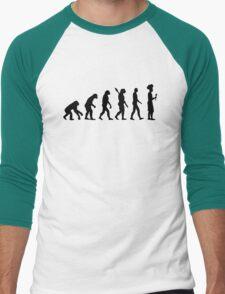 Evolution cook chef  Men's Baseball ¾ T-Shirt