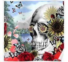 Nature skull landscape Poster