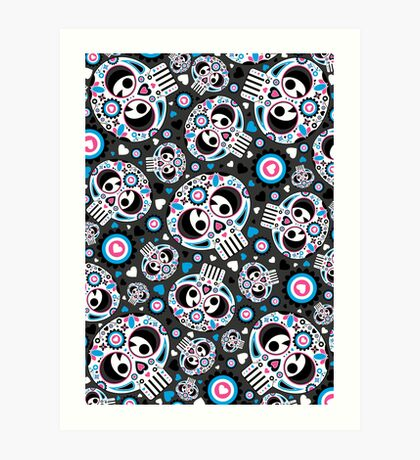 Mexican 'Day of the Dead' Pattern Art Print