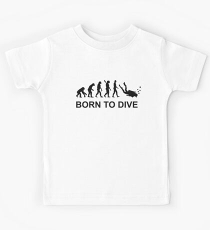 Evolution Born to Dive Diving  Kids Tee