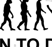 Evolution Born to Dive Diving  Sticker