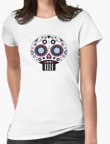 Mexican 'Day of the Dead' Skull Pattern Womens Fitted T-Shirt