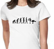 Evolution Figure skating couple Womens Fitted T-Shirt