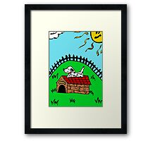 puppy home Framed Print