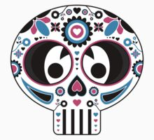 Mexican 'Day of the Dead' Skull Stripe Kids Clothes