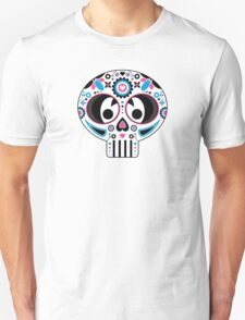 Mexican 'Day of the Dead' Skull Stripe Unisex T-Shirt