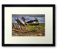 Fleetwood Marsh Wreck Framed Print