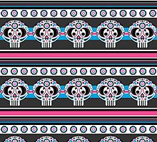 Mexican 'Day of the Dead' Skull Stripe by MurphyCreative