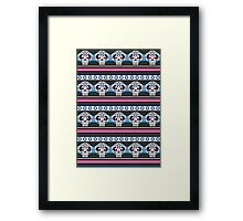Mexican 'Day of the Dead' Skull Stripe Framed Print
