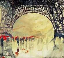 Under the Eiffel Tower by Maja Wrońska