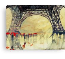 Under the Eiffel Tower Canvas Print