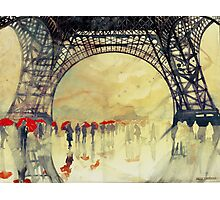 Under the Eiffel Tower Photographic Print