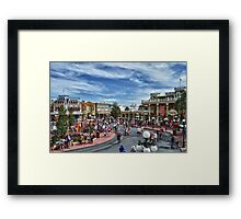 Town Square Theatre Framed Print