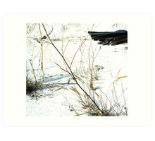 White Abstract Landscape Photography Art Print