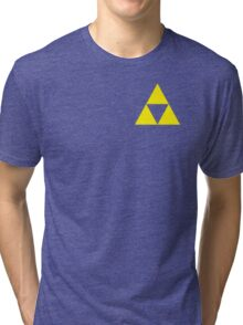 Triforce Badge Yellow Low Cost HQ Tri-blend T-Shirt