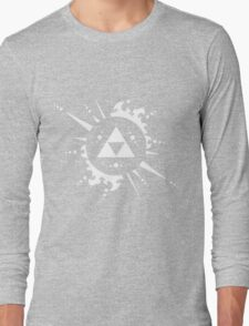 Triforce White Long Sleeve T-Shirt