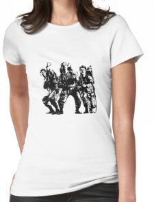 Ghostbusters Film Poster Silhouette Womens Fitted T-Shirt