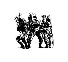 Ghostbusters Film Poster Silhouette Photographic Print