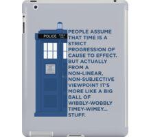 Timey Wimey - Doctor Who iPad Case/Skin