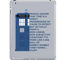 Timey Wimey - Doctor Who iPad Case/Skin