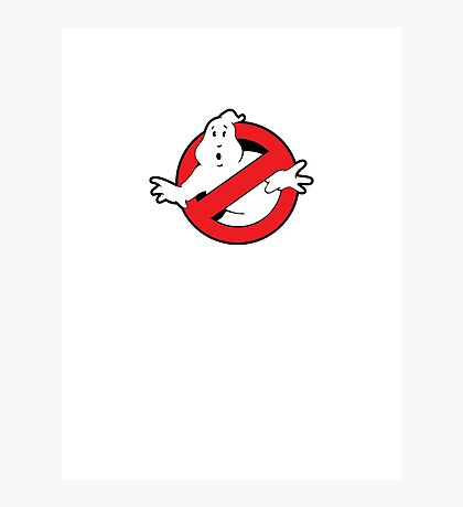 Original Ghostbusters Logo (in colour) Photographic Print