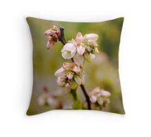 Blueberry flowers Throw Pillow