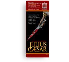 JULIUS CAESAR FAUX THEATRE POSTER Canvas Print