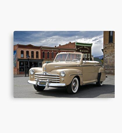 1947 Ford Super Deluxe Convertible Canvas Print