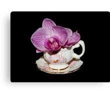 Orchid Still Life Canvas Print