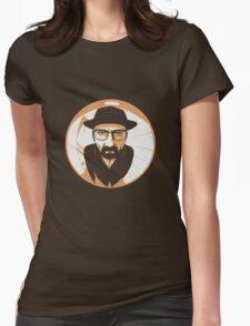 Heisenberg face Silouhette Shadow Womens Fitted T-Shirt