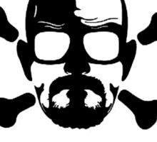 Heisenberg face Silouhette Shadow Warning Sticker