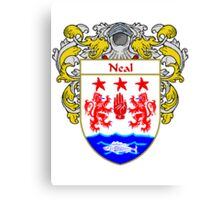 Neal Coat of Arms/Family Crest Canvas Print