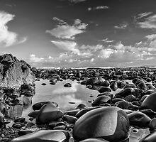 Pebbles and Reflections - Westward Ho. by hayzeedays