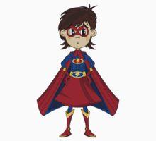 Cute Superhero Pattern Kids Tee