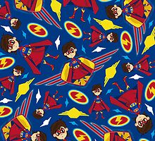 Cute Superhero Pattern by MurphyCreative