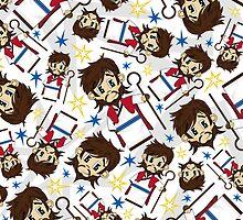 Cute Jesus Christ Pattern by MurphyCreative