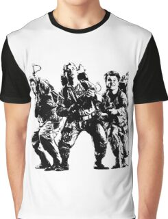 Ghostbusters Film Poster Silhouette Graphic T-Shirt