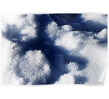 Ice Cristals in melted Snow Poster