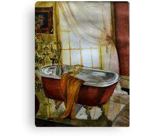Bathroom watercolour Canvas Print