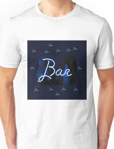 Bar neon blue sign  Unisex T-Shirt