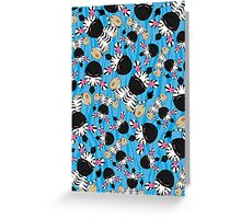 Cute Zebra Pattern Greeting Card