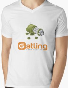 Gatling Mens V-Neck T-Shirt