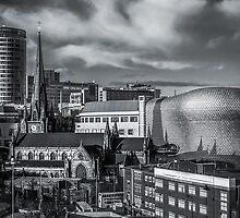 Birmingham Cityscape Skyline, UK in Monochrome by Verity Milligan